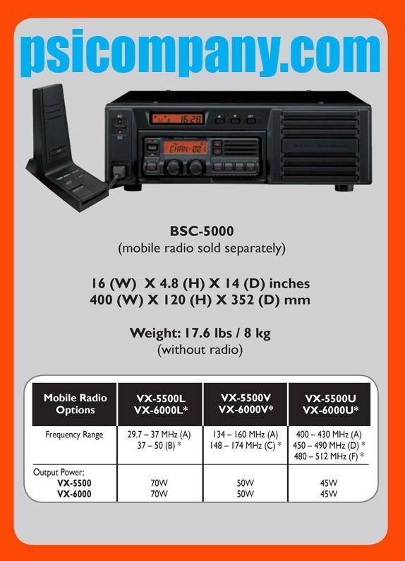 Vertex Standard BSC-5000 Base Station Console