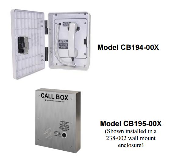Gai-Tronics CB194-00X Series Call Boxes