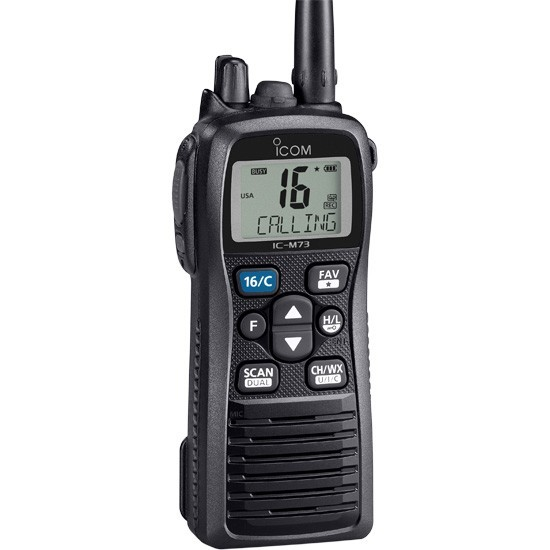 ICOM M73 11 6W IPX8 Submersible PLUS with Active Noise Cancelling and Voice Recording Built-in