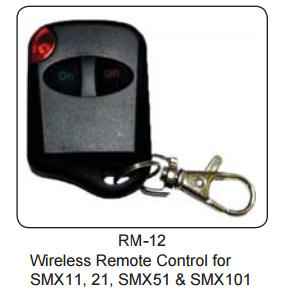Lumishore Drivelite Key Fob Remote Control for SMX11, SMX21, SMX51 & SMX101