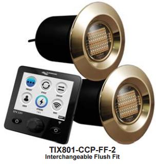 Lumishore TIX801-CCP-FF Single Light Underwater Boat Lighting