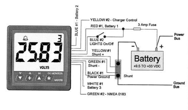 NewMar DCE-VAH110 Digital DC Energy Meter